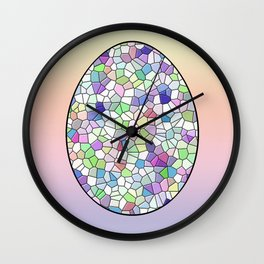 Mosaic Egg Wall Clock