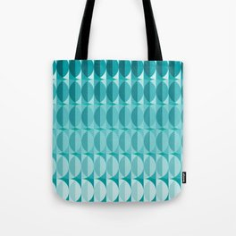 Leaves in the moonlight - a pattern in teal Tote Bag