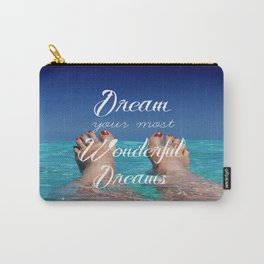 Dream Your Most Wonderful Dreams - Ocean Beach Swim Carry-All Pouch