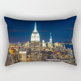 New York city skyline at night Rectangular Pillow