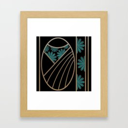 ART DECO FLOWERS (abstract) Framed Art Print