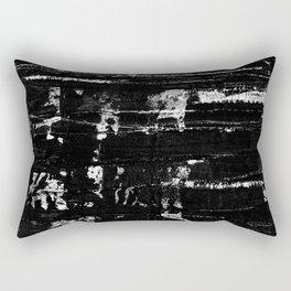 Distressed Grunge 102 in B&W Rectangular Pillow