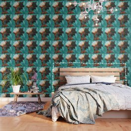 Naturally XXXIII TEAL Wallpaper