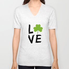 Love St Patricks Day Unisex V-Neck