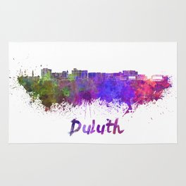Duluth skyline in watercolor Rug