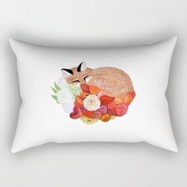 FOX AND FLOWER TAIL Rectangular Pillow