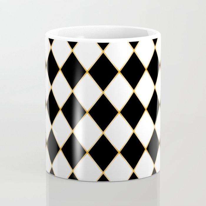 Chess board with golden threads Coffee Mug