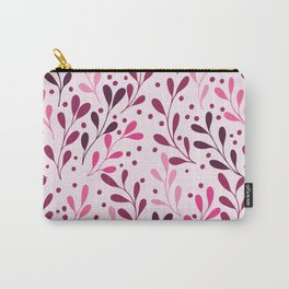 pink,magenta and lili abstract seaweed plants seamless pattern Carry-All Pouch
