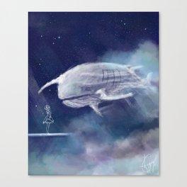 White Whale Canvas Print