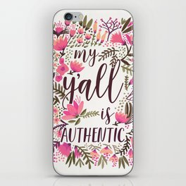My Y'all is Authentic – Vintage Palette iPhone Skin