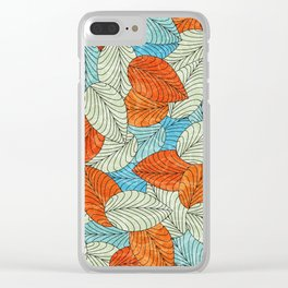 Let the Leaves Fall #09 Clear iPhone Case