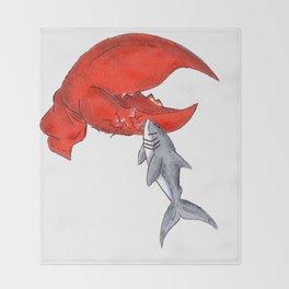 Great White Lobstah Lovah Throw Blanket