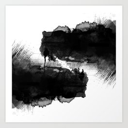 LIKE LIFE WATERCOLOR PATTERN Art Print