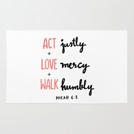 Micah 6:8 Rug