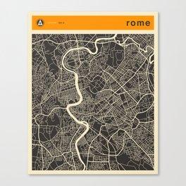 ROME Map Canvas Print