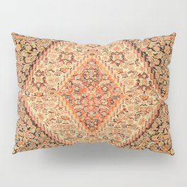 Senneh  Antique Kurdistan Northwest Persian Kilim Print Pillow Sham