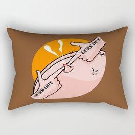 Suns Out Guns Out Zit Rectangular Pillow