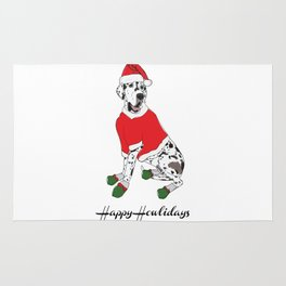 Happy Howlidays - Santa Paws Rug