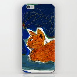 Socca Ginger Cat Art iPhone Skin