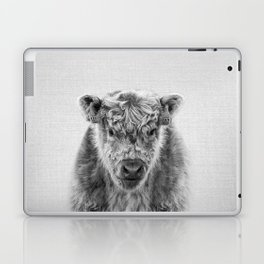 Fluffy Cow - Black & White Laptop & iPad Skin