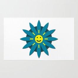 Smiley flower Rug