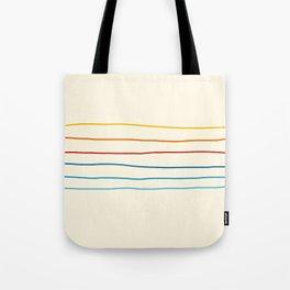 Abstract Retro Stripes #1 Tote Bag