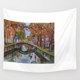Bridge in Delft Wall Tapestry