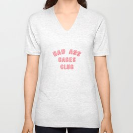 BAD ASS BABES CLUB Unisex V-Neck
