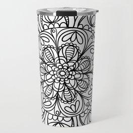 Mandala Black 3 Travel Mug
