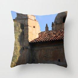 Carmel Mission Basilica Throw Pillow