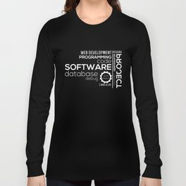 Programmer: Typography Programming Long Sleeve T-shirt