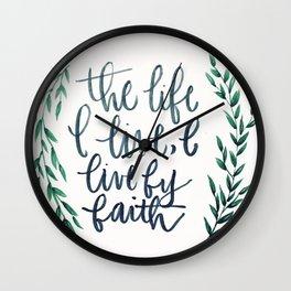 Galatians 2:20 Wall Clock