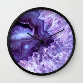 Purple Lavender Quartz Crystal Wall Clock