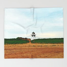 Stanhope PEI Lighthouse and Beach Throw Blanket