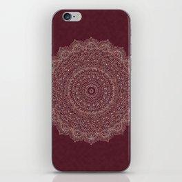 Rose Gold Marble Mandala Burgundy Textured iPhone Skin