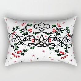 Christmas Plaq Rectangular Pillow