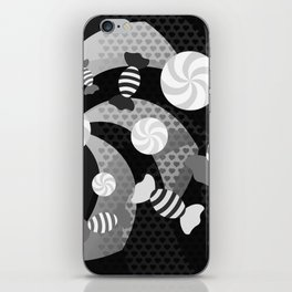 Black and White Sugar Crush iPhone Skin