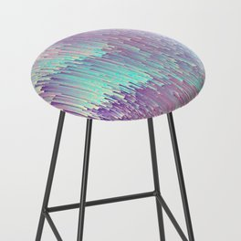 Iridescent Glitches Bar Stool