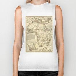 Vintage Map of Africa (1828) Biker Tank