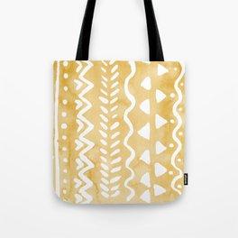 Loose bohemian pattern - yellow Tote Bag