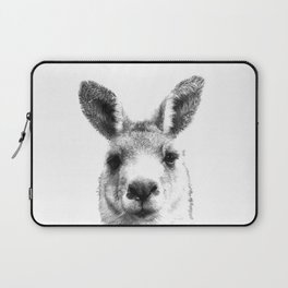 Black and white kangaroo Laptop Sleeve