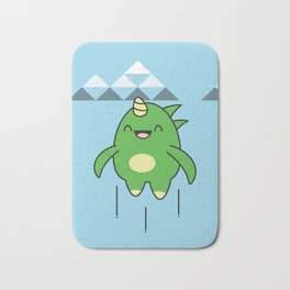 Kawaii Dragon Bath Mat