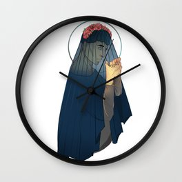 Credence Rose Veil Wall Clock