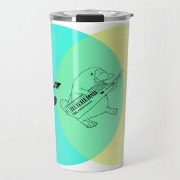Keytar Platypus Venn Diagram Travel Mug