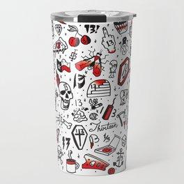 Friday the 13th Tattoo Flash Travel Mug