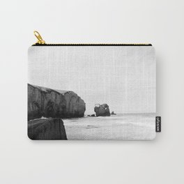 Black and White Dunedin beach - New Zealand Carry-All Pouch