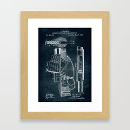 1889 - Cartridge feed pack for magazine guns Framed Art Print