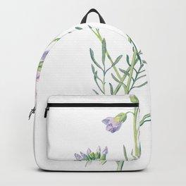Purple Watercress Flowers Painting Backpack
