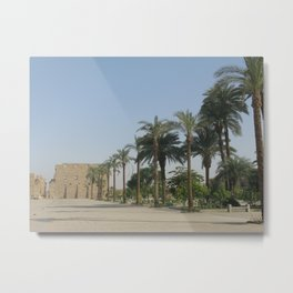 Temple of Karnak at Egypt, no. 3 Metal Print