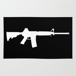 AR-15 (on black) Rug